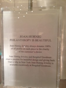 photo of charity offering by Joan Hornig jewelry