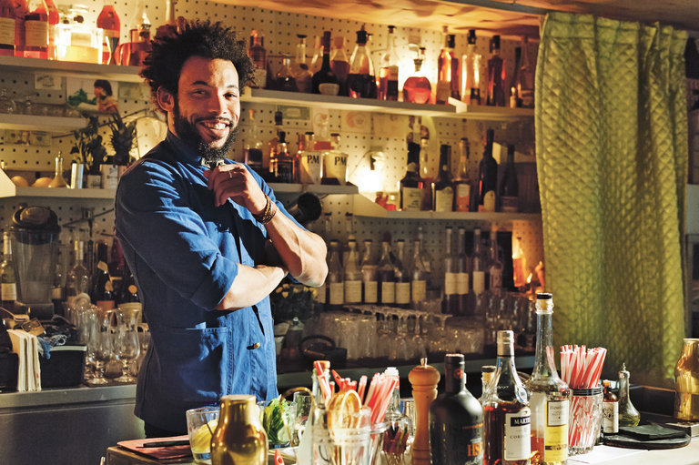 Sullivan Doh, owner-mixologist at Le Syndicat in Paris. Credit Charissa Fay