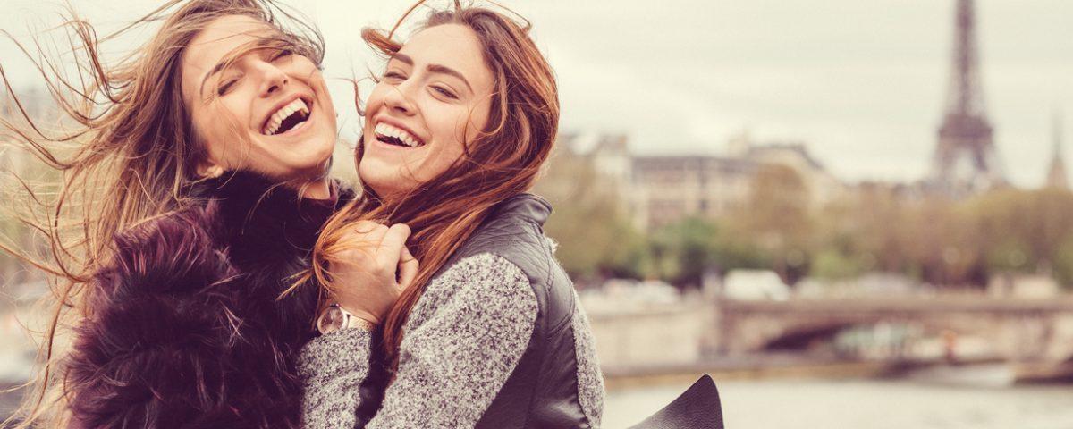 two girls in paris building relationships in marketing sandyhibbardcreative.com