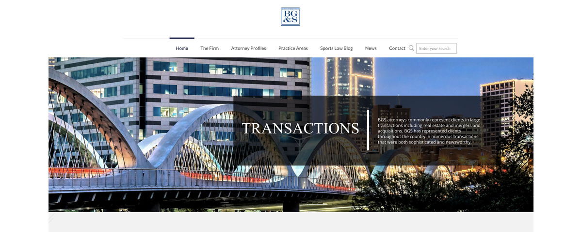 bgs law firm fort worth web design by sandy hibbard creative