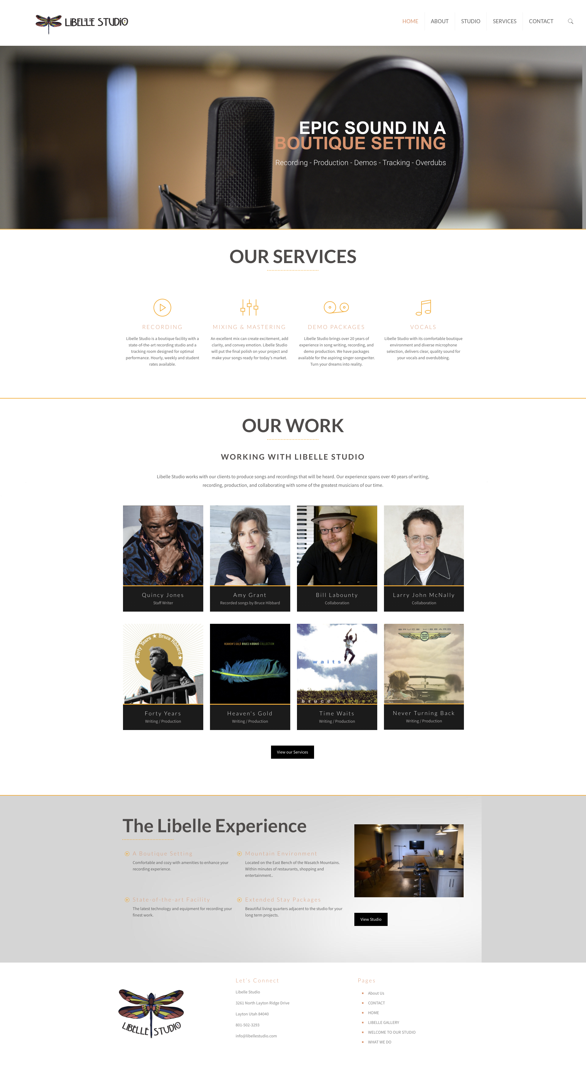 Libelle studio salt lake city website design by sandy hibbard creative