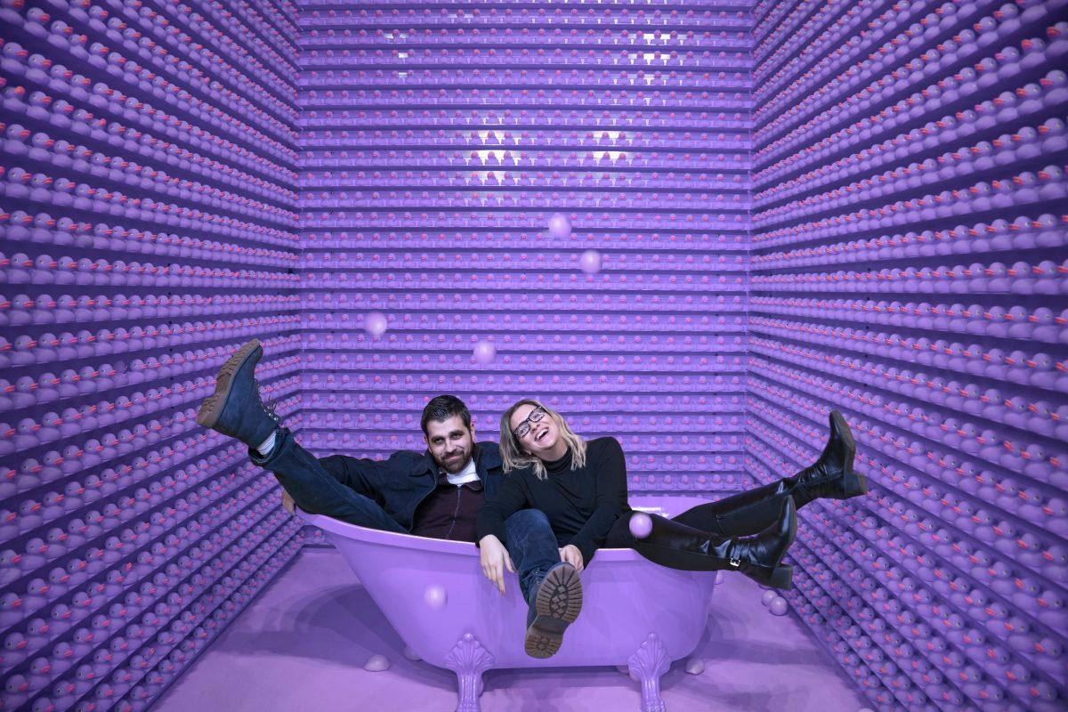 Make marketing fun again purple background