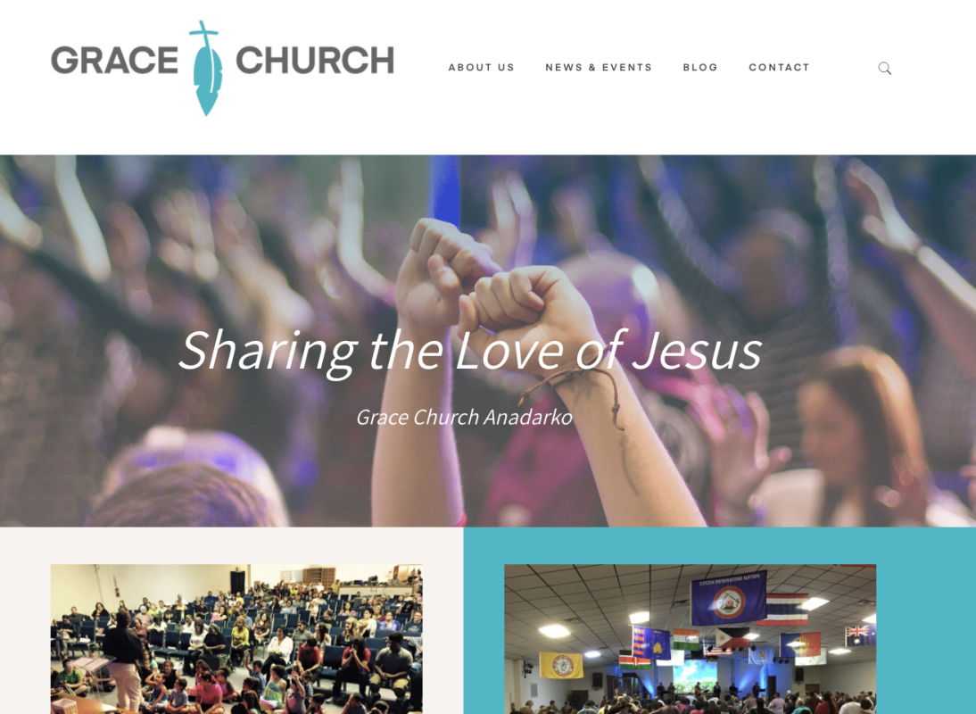 grace church website home page